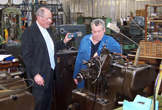 Example of a workplace noise assessment in progress in an industrial manufacturing facility